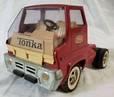 1960's Tonka Gas Turbine Tractor Pressed Steel Semi (Cab Only) Fire Truck Red