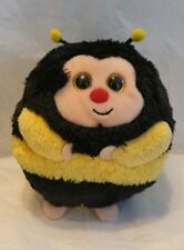 Ty Beanie Baby Ballz Zips the Bee Plush Ball Toy TySilk