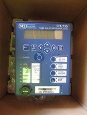 NEW SEL-735 POWER QUALITY AND REVENUE METER 0735VX10544BXXXXXX16102XX