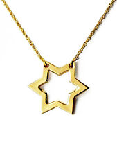 Etoile de David Collier Plaqué Or 18K - Star of David Necklace 18K Gold Plated