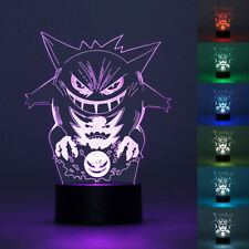 3D LED Night Light Gengar Pokemon Touch Swift Table Desk Bed Lamp Gifts 7 Colour