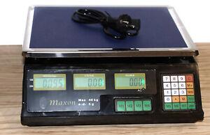 Obstwaage Digital Waage bis 40 kg  Maxon  Kontrollwaage