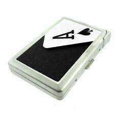 Ace Card Em1 Cigarette Case with Built in Lighter Metal Wallet