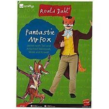 Child Roald Dahl Fantastic Mr Fox Costume 2 Sizes Book Week Fancy Dress Large 10 - 12 Years