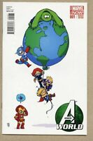 Avengers World #1-2014 nm 9.4 / Skottie Young Variant Cover