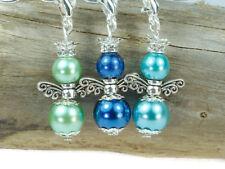 10 Bastelset DIY mini Engel Anhänger im bunten Farbmix Perlenengel Engel Charms