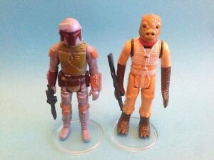 """Star Wars Vintage - 10 Large CLEAR Figure Display Stands 1.5"""" - New! MIX & MATCH"""