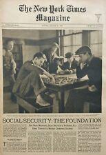 SOCIAL SECURITY PINE CAMP NY LAREDO TEXAS COLUMBUS CIRCLE LAVEL 1935 August 18