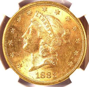 1883-S $20 MS62 NGC -LIBERTY HEAD