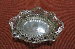 Victorian Sterling Silver Openwork Design  Basket - Birmingham 1898 Mappin & Web