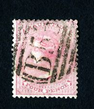 Mauritius 1860 Victoria 4 Pence Interesting Cancel (SC# 26)