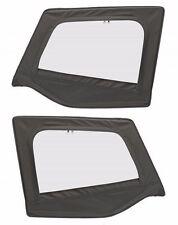 1988 1995 Jeep Wrangler Soft Top Front Upper Door Windows Skins Black Denim Pair Fits 1994 Jeep Wrangler