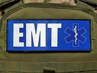 "3x8"" EMT Blue Medic Morale Hook Plate Carrier  Patch EMS Ambulance"