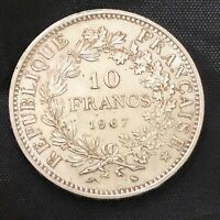1967 10  France Coin 25g Silver