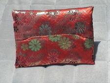 "Fabric Pocket Purse Tissue Holder Multi-Color Flower Design. 4 3/4"" x 3"""