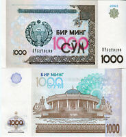 UZBEKISTAN / Usbekistan 1000 Sum banknote 2001 P 82  kassenfrisch UNC.