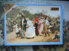 FALCON DELUXE GALLERY THE VILLAGE WEDDING PAINTING 1000 PIECE JIGSAW PUZZLE