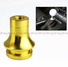 M10 X 1.25 GOLD ALUMINUM GEAR SHIFT KNOB BOOT RETAINER ADAPTER FOR MITSUBISHI