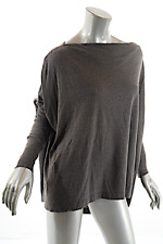 RICK OWENS LILIES Mocha Rayon Blend Relaxed Light Weight Sweater US6 I40 GB8 D36
