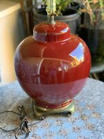 Beautiful Large Oxblood Red Porcelain Vase Table Lamp