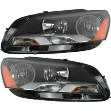 Headlight Set For 2012-2015 Volkswagen Passat Left and Right With Bulb 2Pc
