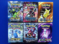 Pokemon EMPTY THEME DECK BOX x2 FATES COLLIDE + x2 STEAM SIEGE + x2 EVOLUTIONS