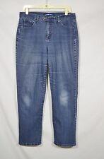 BANDOLINOBLU Blue Stretch Denim Jeans 12 Slightly Tapered 5 Pocket Double Button