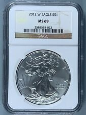 2012-W Silver American Eagle $1 * NGC MS69 * One Ounce * NO RESERVE