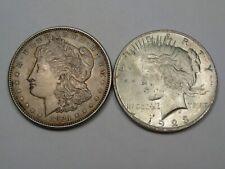 2XF Eeuu Plateado Dollars: 1921 Morgan & 1923 Paz. #155