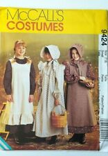 NEW McCall's Pioneer Little House Prairie Sewing Pattern 9424 Sz 7 8 Girls Small