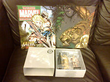 CLASSIC MARVEL FIGURINE COLLECTION KAZAR & ZABU SPECIAL FIGURE BOXED MAG POSTER