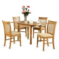 5 Piece dinette set for small spaces - table and 4 dining table chairs NEW