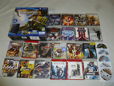 BOXED PS3 UNCHARTED 3 SLIM SYSTEM & GAME LOT 250GB ASSASSINS CREED METALGEAR 007