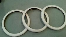 3 DURO BEACH CRUISER BICYCLE TIRES  26X2.125 BRICK PATTERN CREAMS TRICYCLES