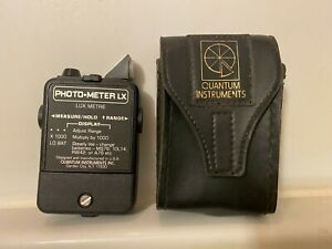 Quantum Photo-Meter LX medical imaging Digital Lux Meter w/leather case.