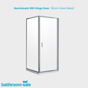 BenchMark 900 Bathroom Hinge Door with Chrome Frame & Clear Glass | RRP: £249