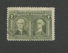1908 Canada Generals Montcalm & Wolfe 7c Postage Stamp #100 Value