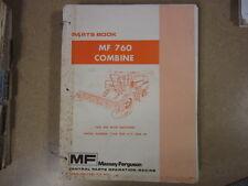 Massey Ferguson 760 combine parts manual