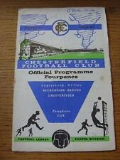 30/01/1965 Chesterfield v Rochdale  (Folded, Creased, Writing On Front). Item In