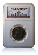 NGC MS68 2012-D Chester Arthur Presidential Dollar Gem Uncirculated