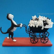 THE PRAM Proud Mom Kittens In Stroller CAT STATUE SCULPTURE DUBOUT FRANCE Artist