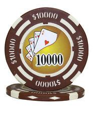 50pcs 14g Yin Yang Casino Table Clay Poker Chips $10000