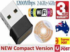 NANO AC1200 High Power USB AC Wireless WiFi Adapter Long Range 802.11AC 5dBi