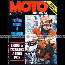 MOTO JOURNAL 107-b HONDA CR 250 ELSINORE, YAMAHA RD 350 1973 ★ POSTER NIETO ★