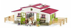 Schleich Horse Club Stable Riding Centre with Horses and Accessories New 42344