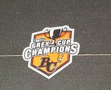 BC LIONS 2011 GREY CUP CHAMPIONS STICKER TEAM ISSUED CFL RARE
