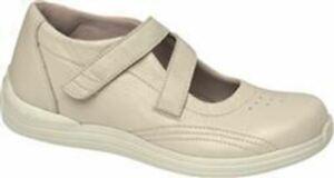 Drew Women's Orchid Comfort Padded Orthopedic Beige Leather Shoes Bone Siz 10.5W