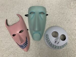 The Nightmare Before Christmas Trick Or Treaters Masks Lock Shock Barrel Adult
