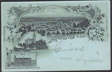 8537 Gruss aus Amstetten Rathaus & Schloss Wallsee Schwidernoch Litho 1899