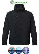 Mens Waterproof Windproof Breathable FLEECE LINED Lined Hooded SOFTSHELL Jacket